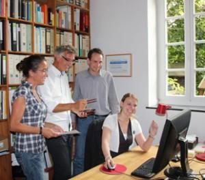 Die IBN-Mitarbeiter rund um Andreas Nordhoff